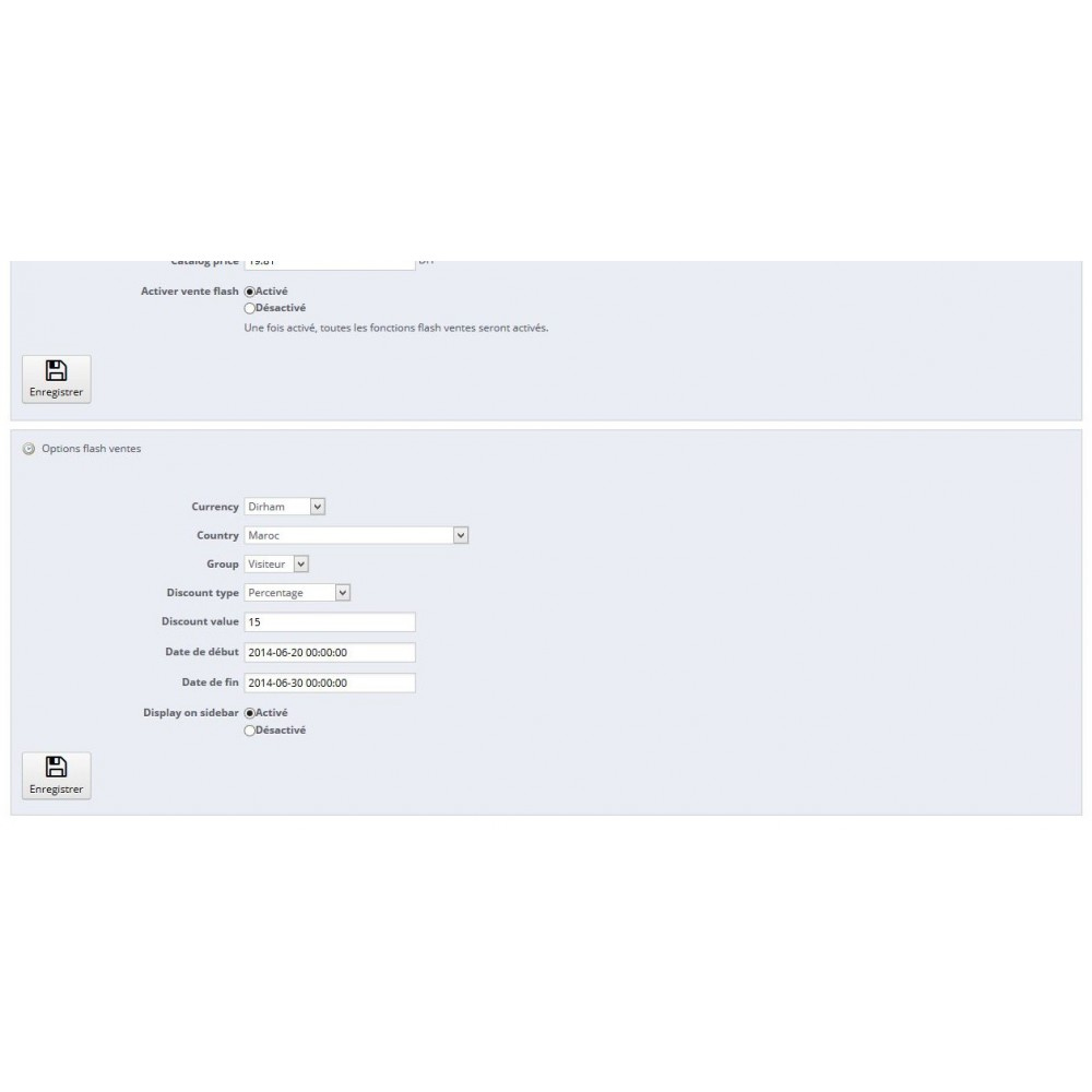 module - Ventes Flash & Ventes Privées - Ventes Flash / Offres et tarifs spécifiques - 12