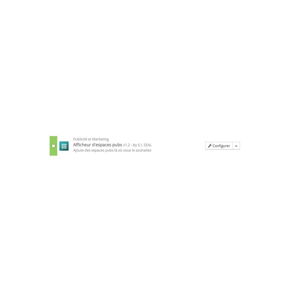 module - Référencement payant (SEA SEM) & Affiliation - Afficheur d'espaces pubs / AdsWhereYouWant - 4