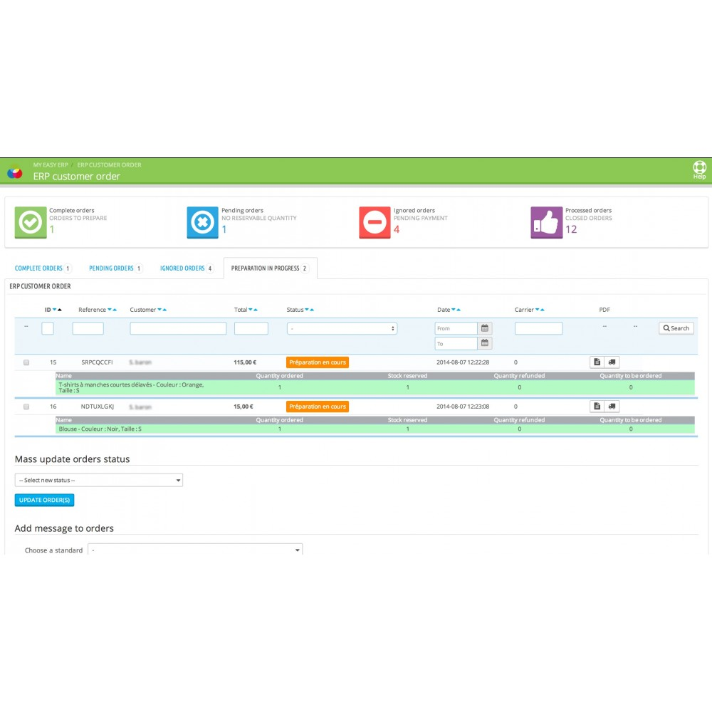 module - Third-party Data Integration (CRM, ERP...) - My Easy ERP - 13