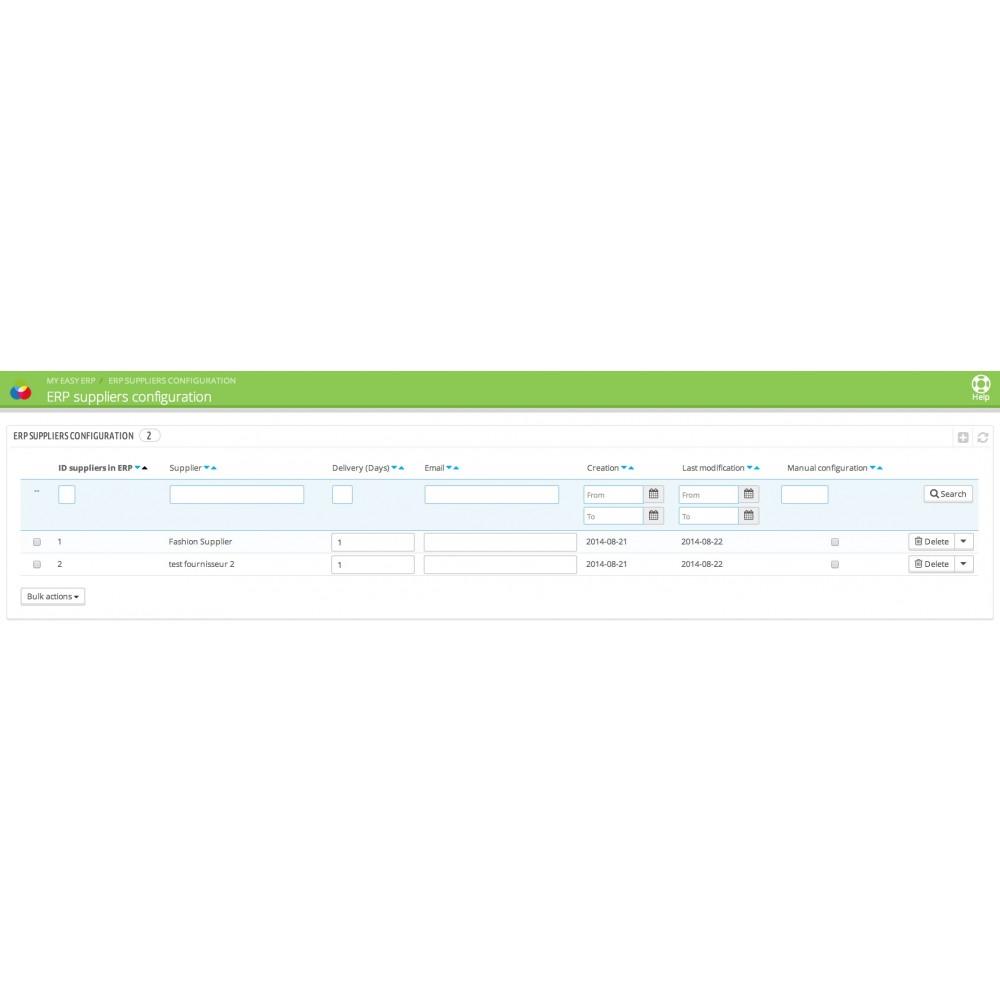 module - Соединение с внешней программой (CRM, ERP...) - My Easy ERP - 38