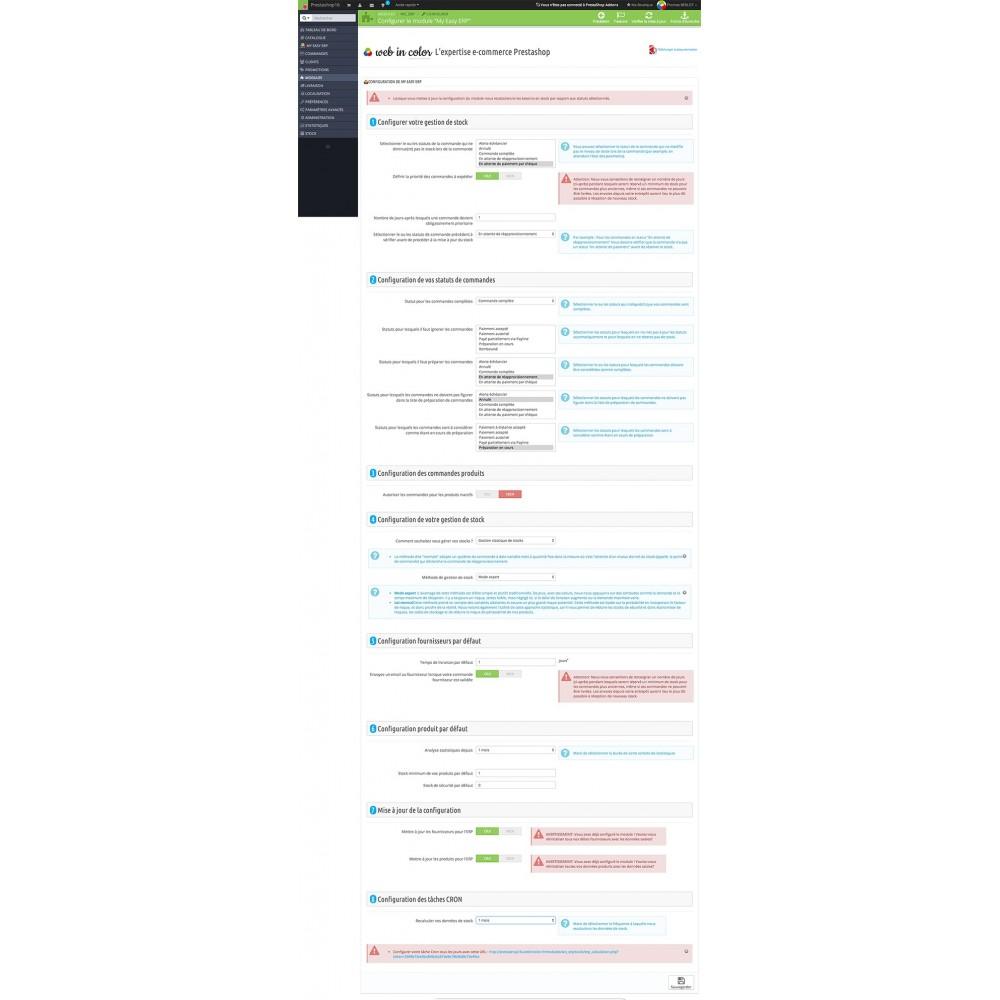 module - Connexion à un logiciel tiers (CRM, ERP...) - My Easy ERP - 3
