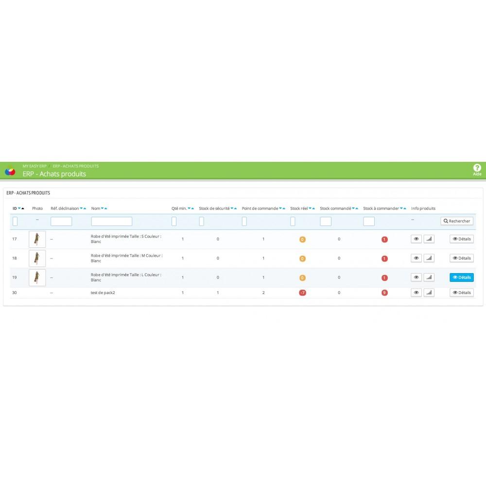 module - Connexion à un logiciel tiers (CRM, ERP...) - My Easy ERP - 43