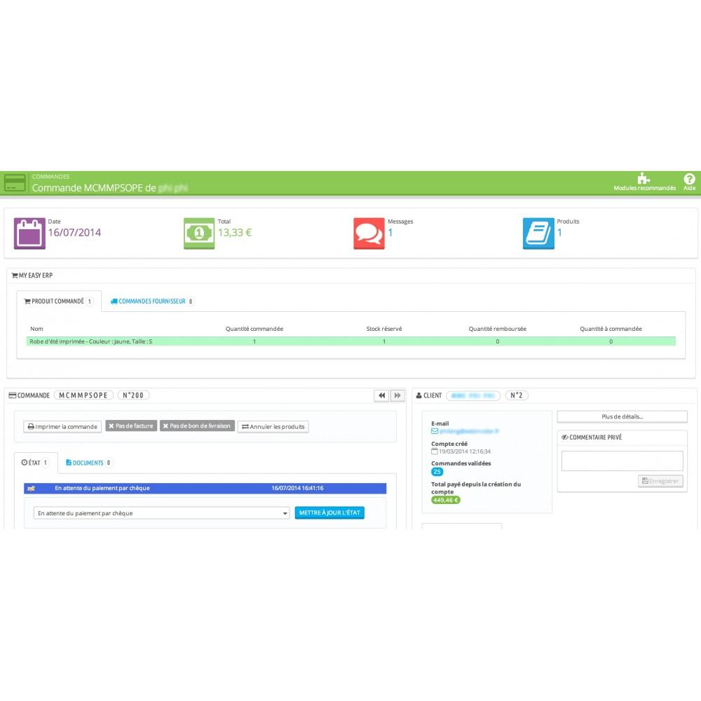 module - Connexion à un logiciel tiers (CRM, ERP...) - My Easy ERP - 44
