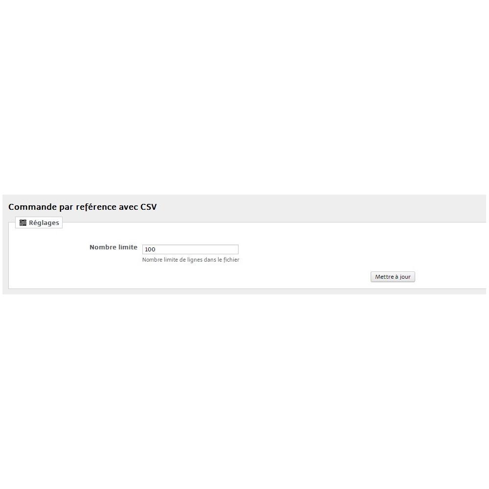 module - Inscription & Processus de commande - Order By Reference & CSV file - 29