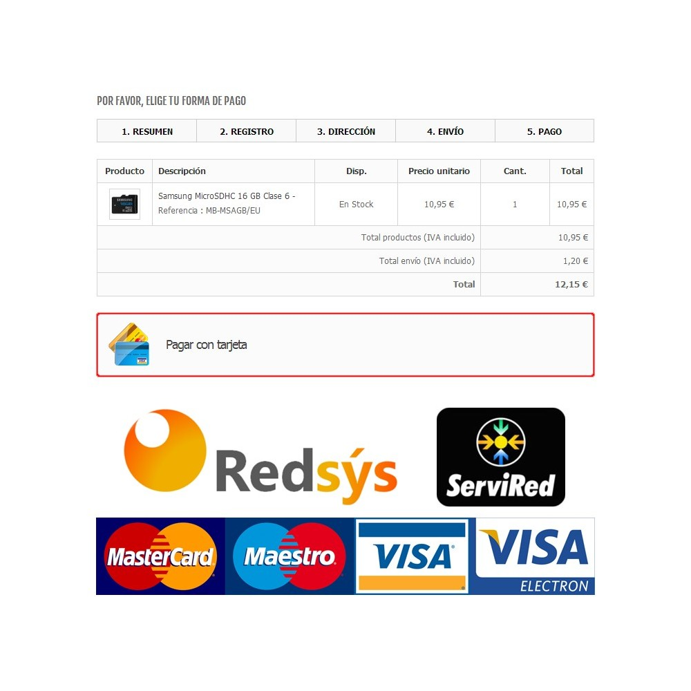 module - Creditcardbetaling of Walletbetaling - Redsys Virtual POS - Card payment (Sermepa / Servired) - 1