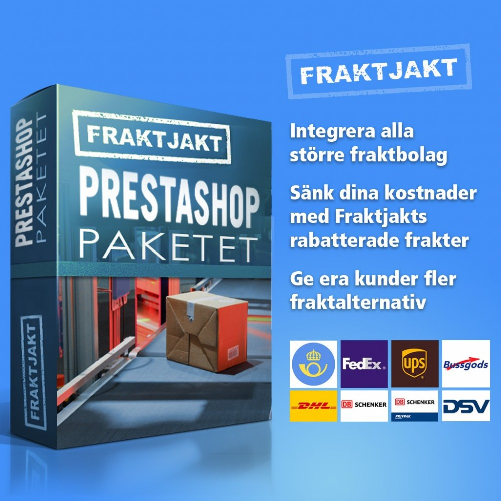 module - Transporteurs - Fraktjakt - Swedish shipping integration - 1