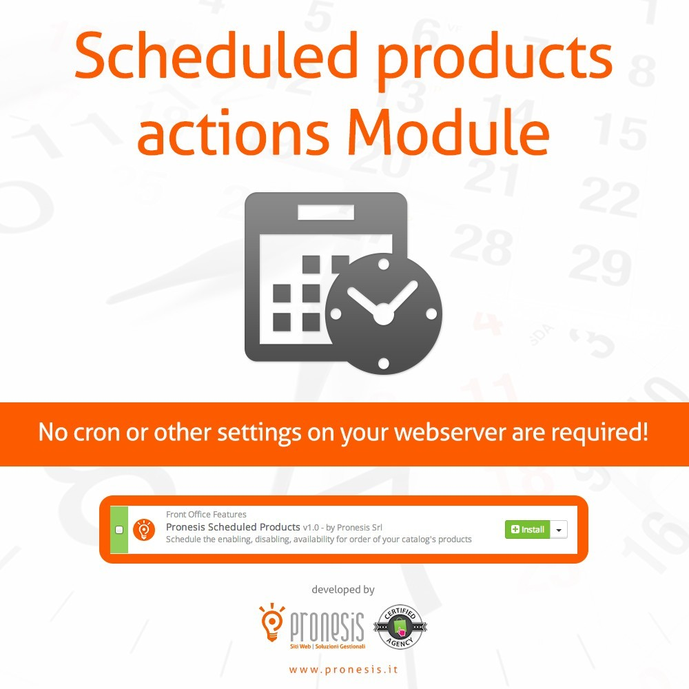 module - Administratieve tools - Scheduled Products Publishing Actions - 1