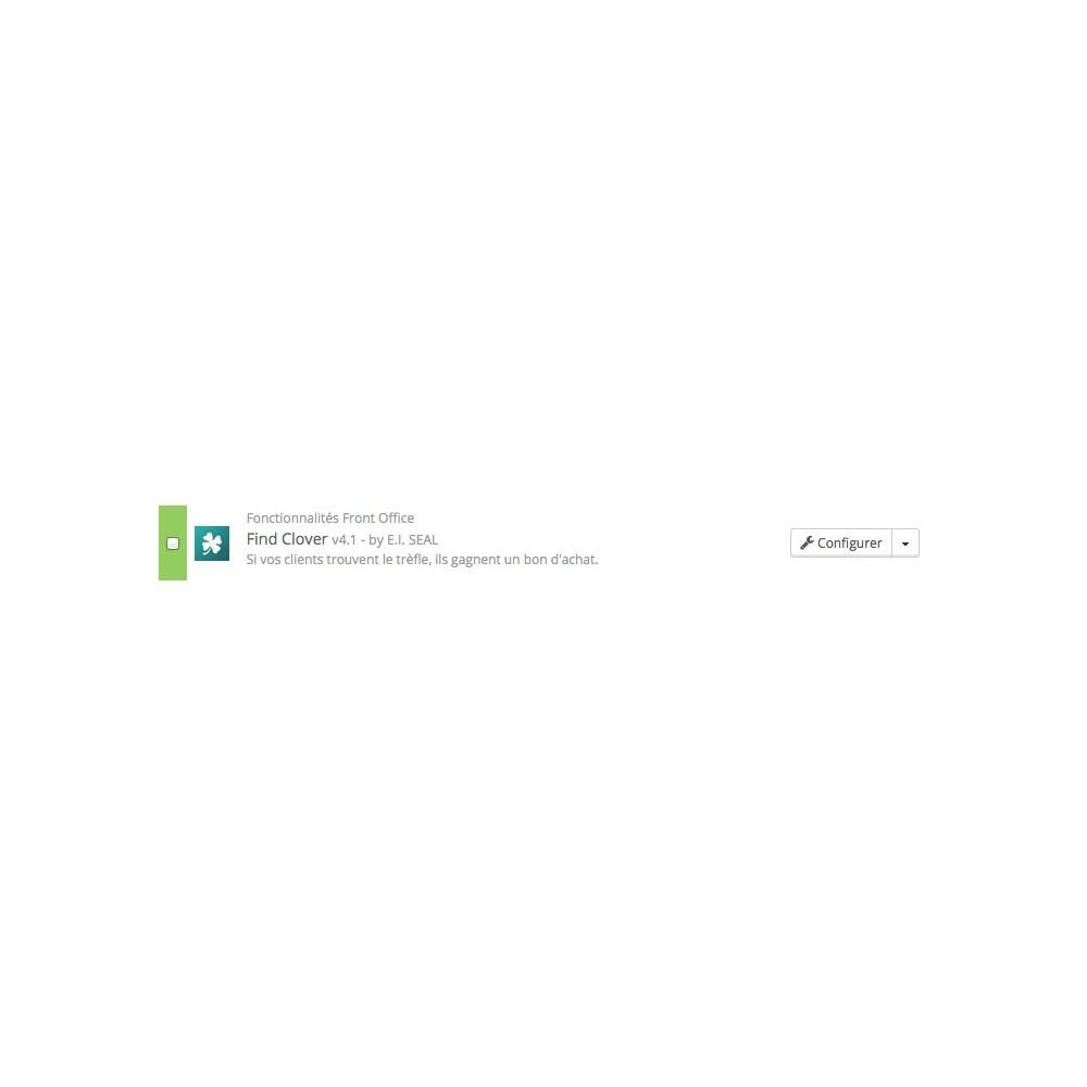 module - Jeux-concours - Chasse au trésor / FindClover - 2