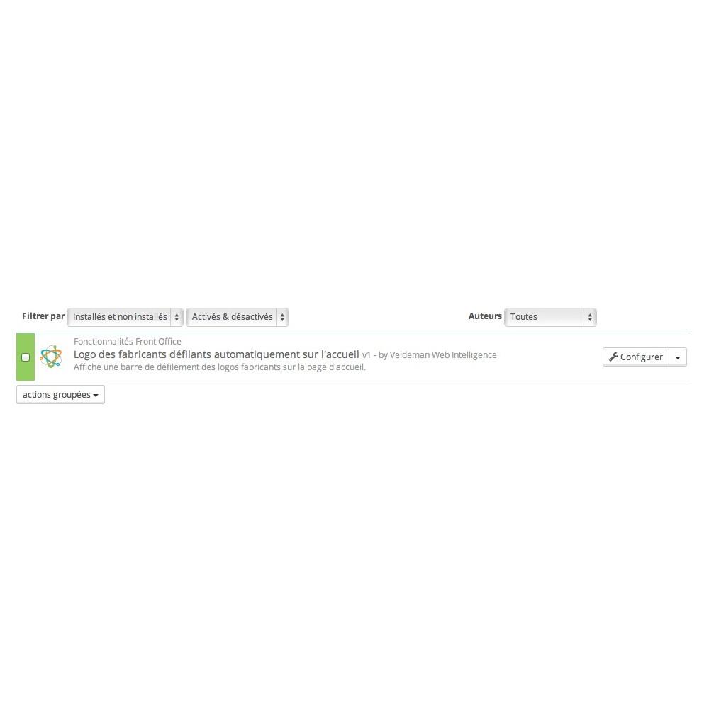 module - Marques & Fabricants - Logo des fabricants défilant et responsive - 2