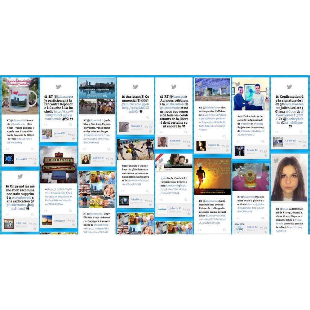 module - Widgets réseaux sociaux - Dialogfeed, affichez un social wall sur votre site - 3