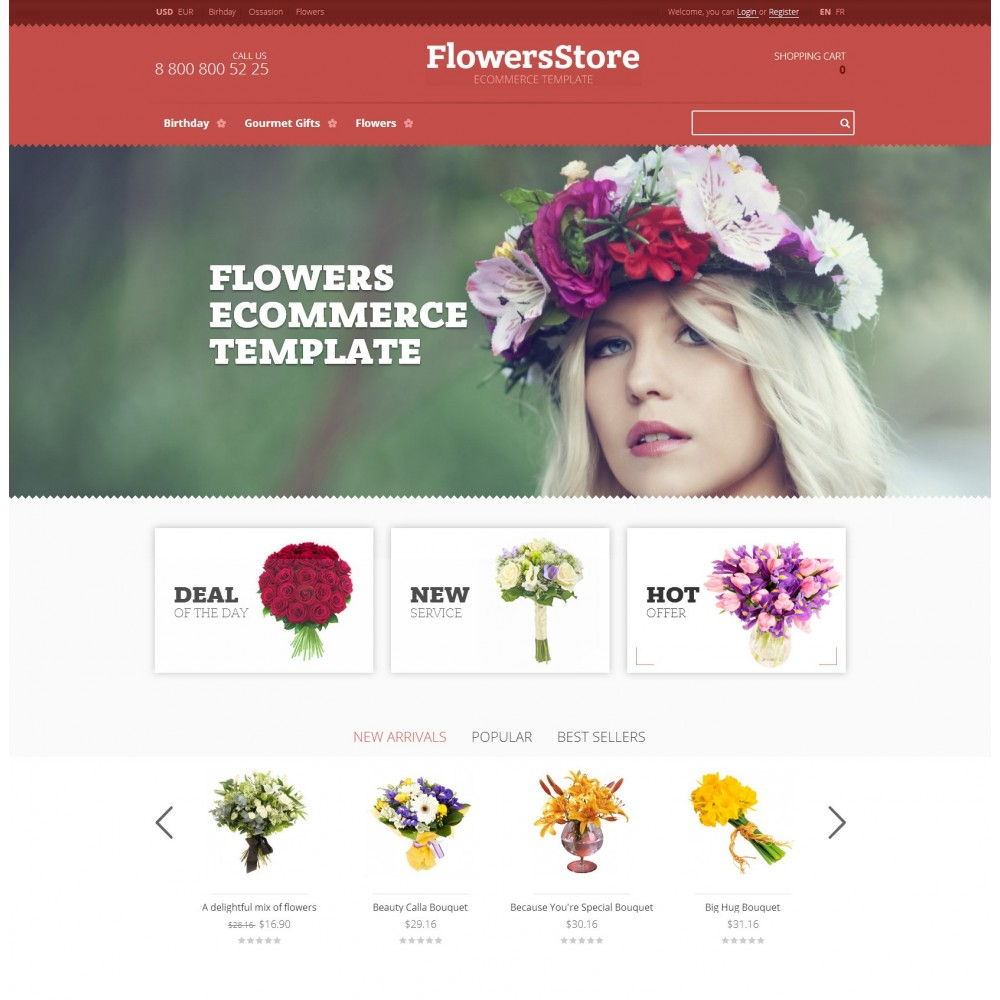 theme - Gifts, Flowers & Celebrations - Floweris - Flowers Shop - 1
