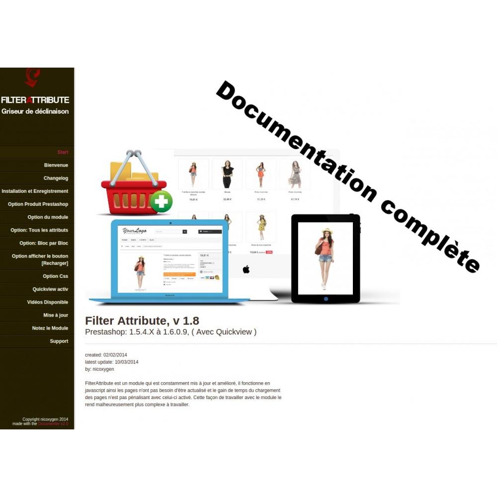 module - Déclinaisons & Personnalisation de produits - Filterattribute - déclinaisons et attributs en Stock - 2