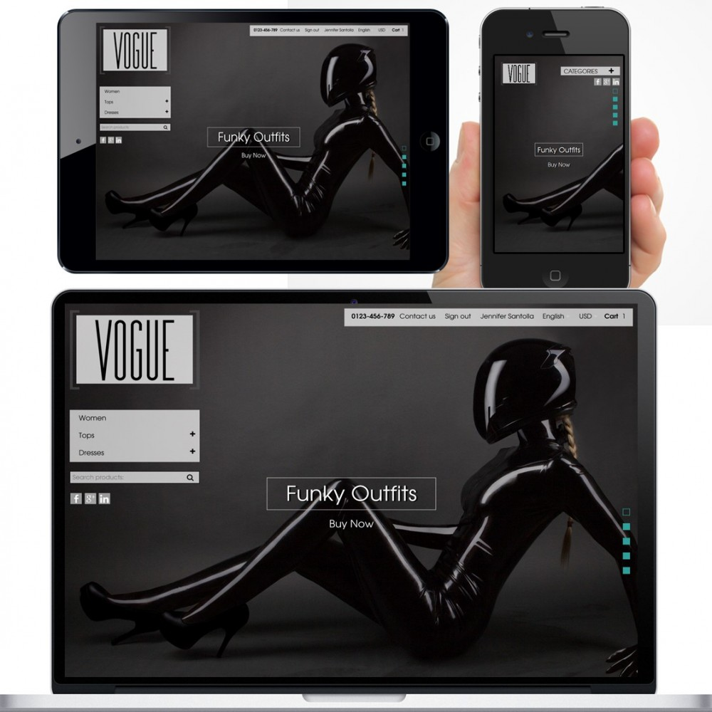 theme - Mode & Schuhe - Vogue Parallax Masonry Prestashop Theme - 2