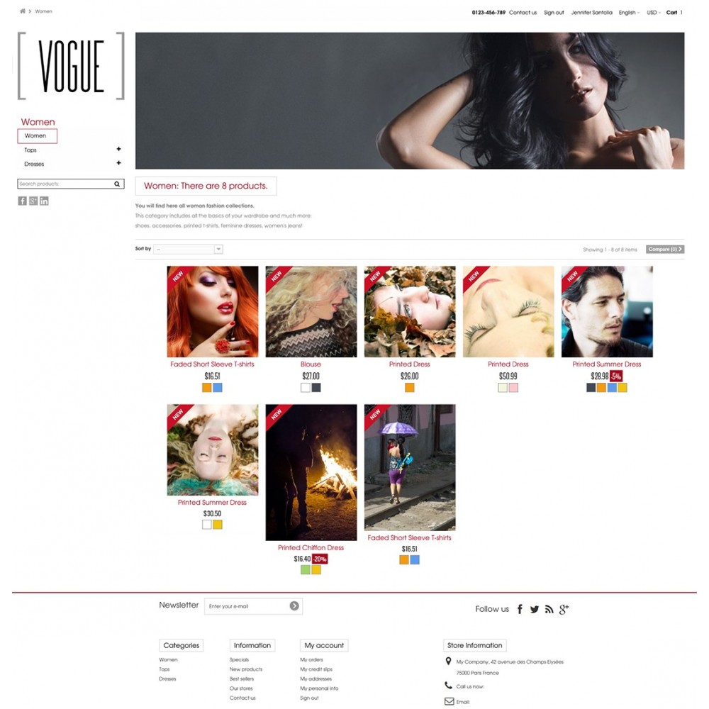 theme - Fashion & Shoes - Vogue Parallax Masonry Prestashop Theme - 4