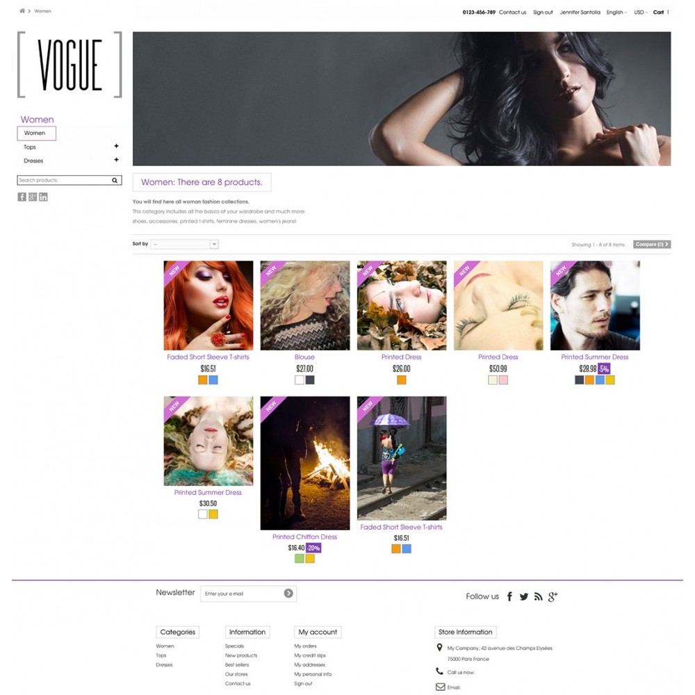 theme - Fashion & Shoes - Vogue Parallax Masonry Prestashop Theme - 9
