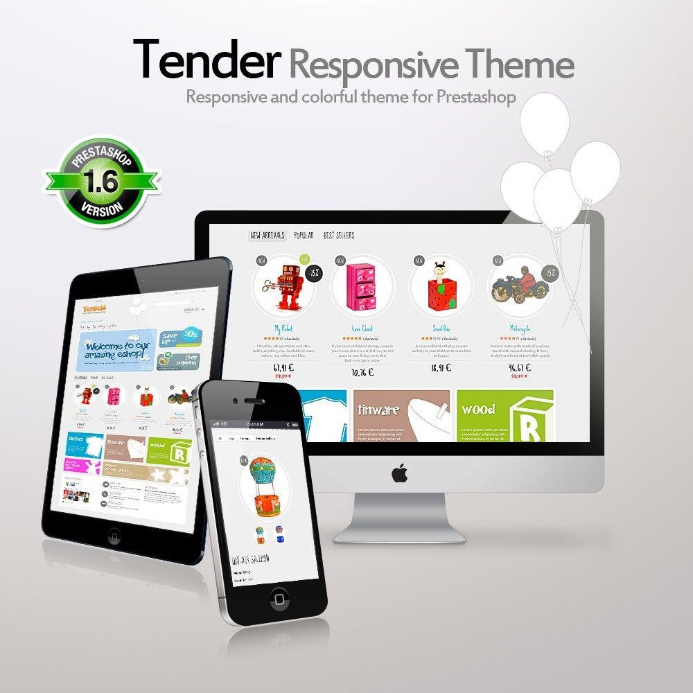 theme - Kids & Toys - Tender Responsive - 1