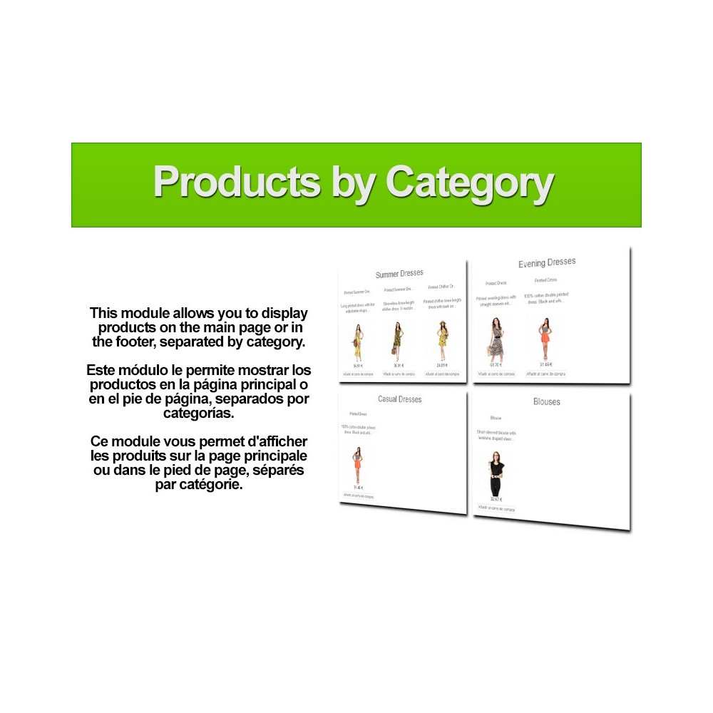 module - Produkte auf der Startseite - Products by category - 1