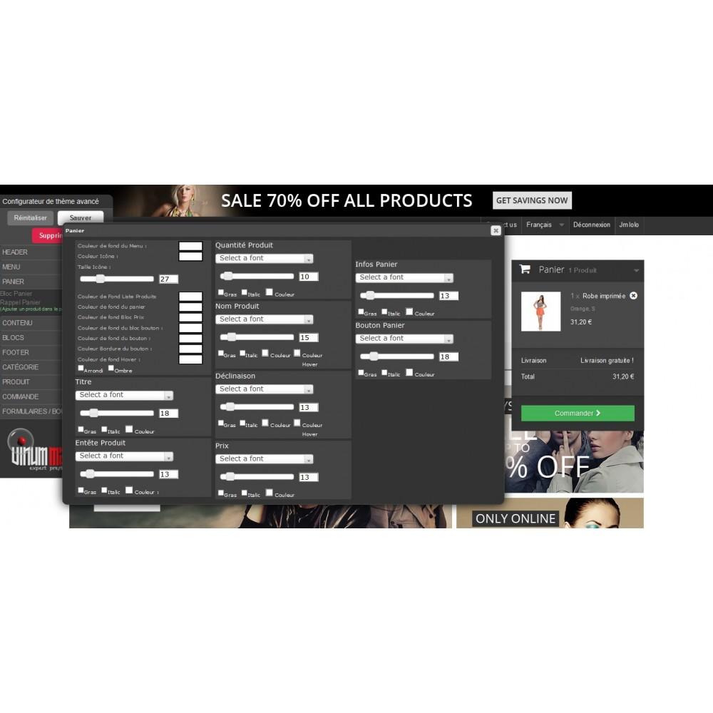 module - Personnalisation de Page - Configurateur de thèmes avancé - Theme Maker - 1