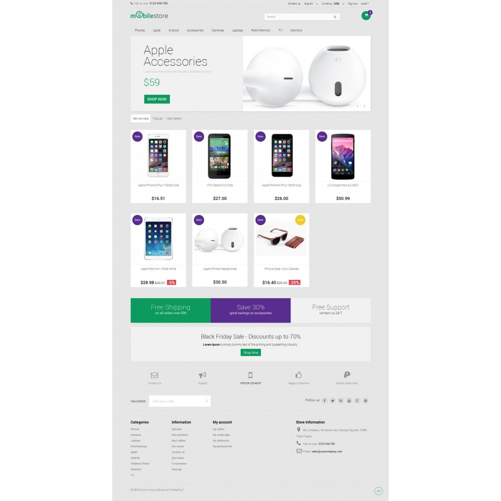 theme - Электроника и компьютеры - Digital Mobile Store Responsive - 2