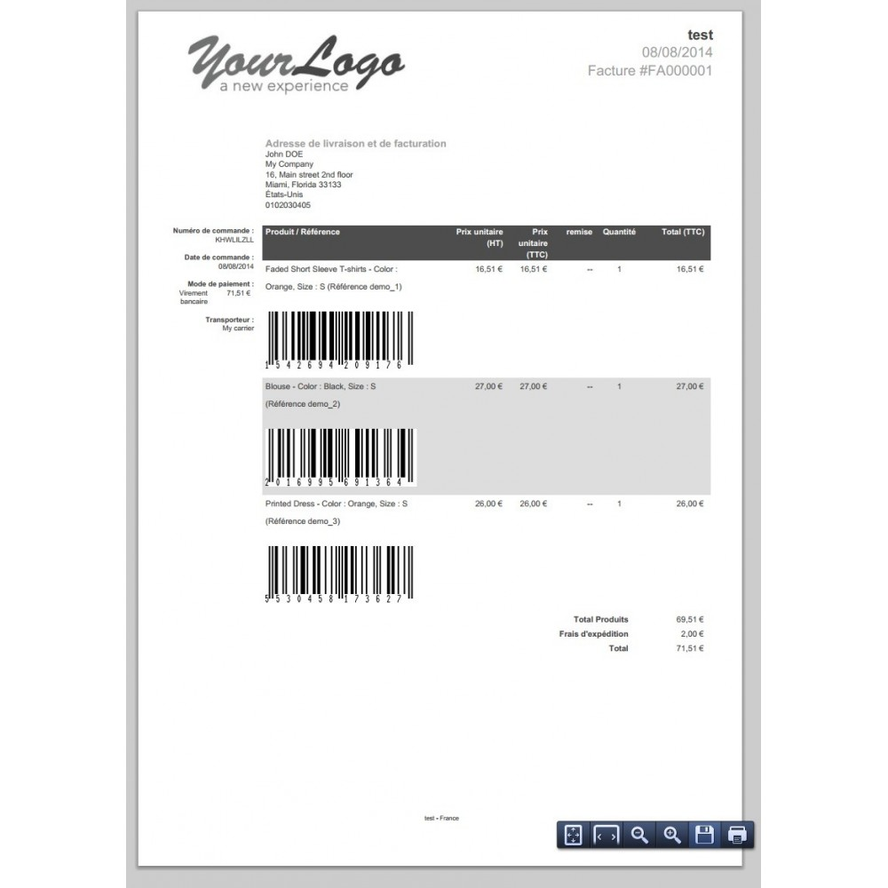 module - Preparation & Shipping - Barcode EAN 8, 13, 15, 18 and stocks - 3