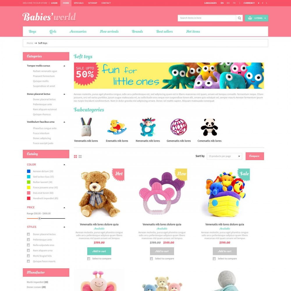 theme - Bambini & Giocattoli - Prestashop Baby Apparel Online Template - ET Babies - 2