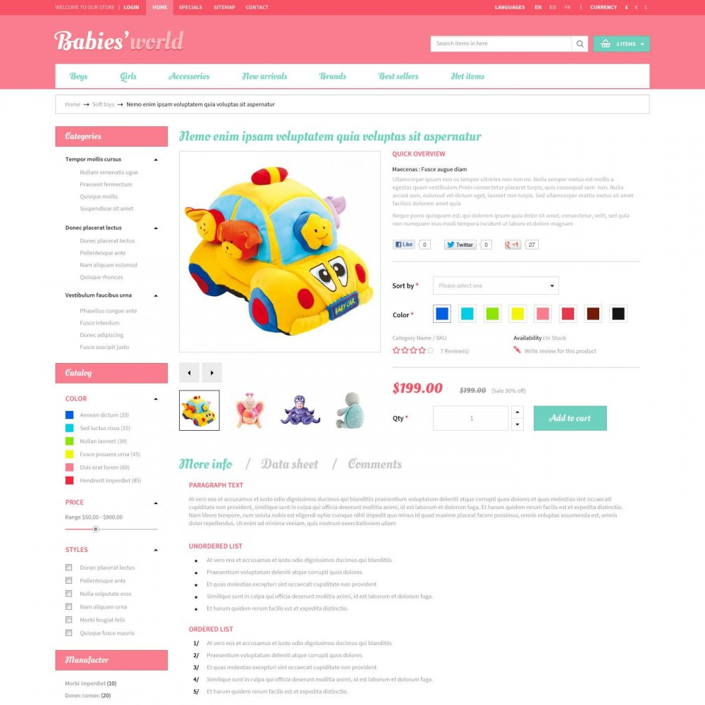 theme - Bambini & Giocattoli - Prestashop Baby Apparel Online Template - ET Babies - 4