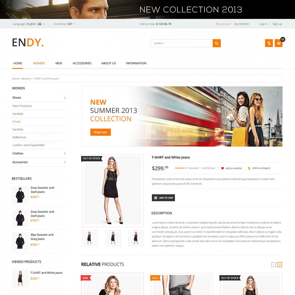 theme - Moda & Calzature - Endy - Shop of Design Clothes - 3