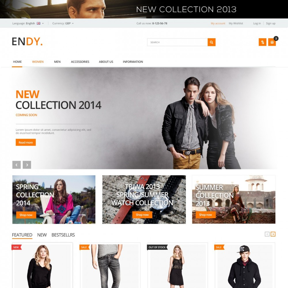 theme - Moda & Calzature - Endy - Shop of Design Clothes - 1
