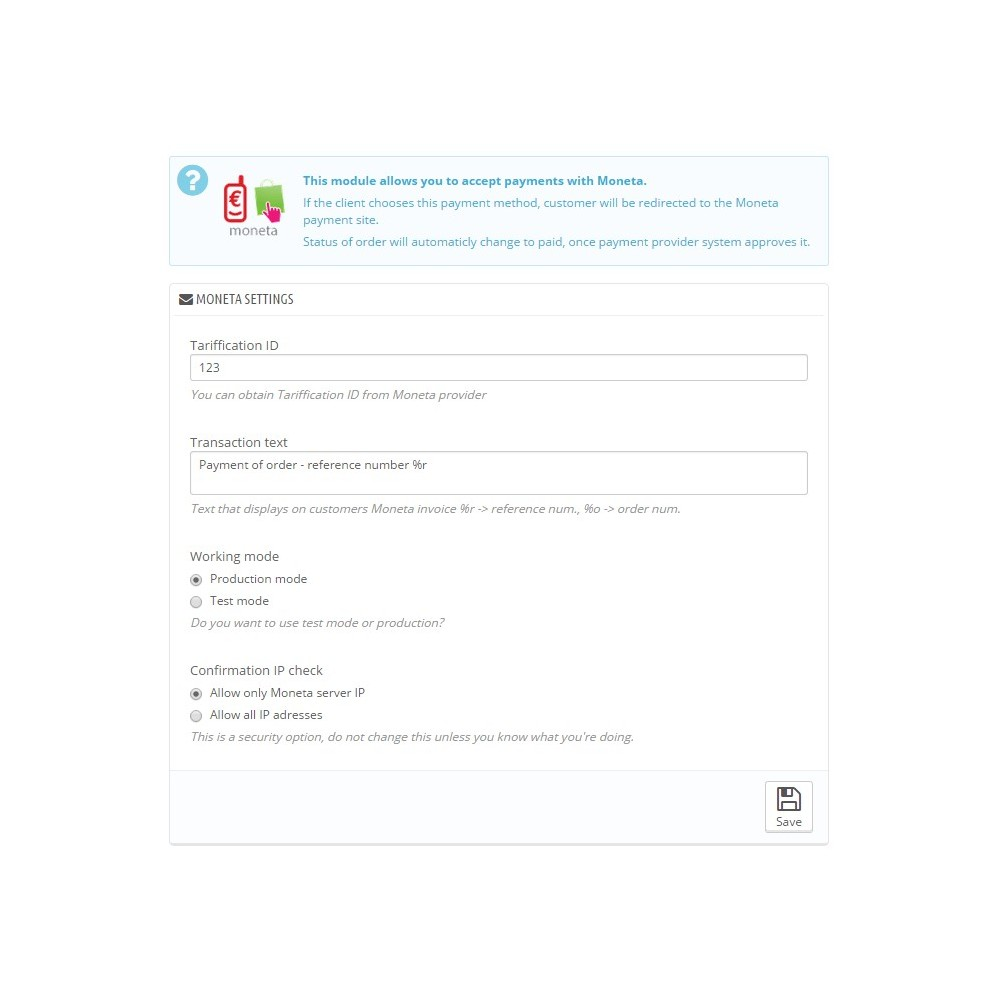 module - Andere Zahlungsmethoden - Moneta - 4