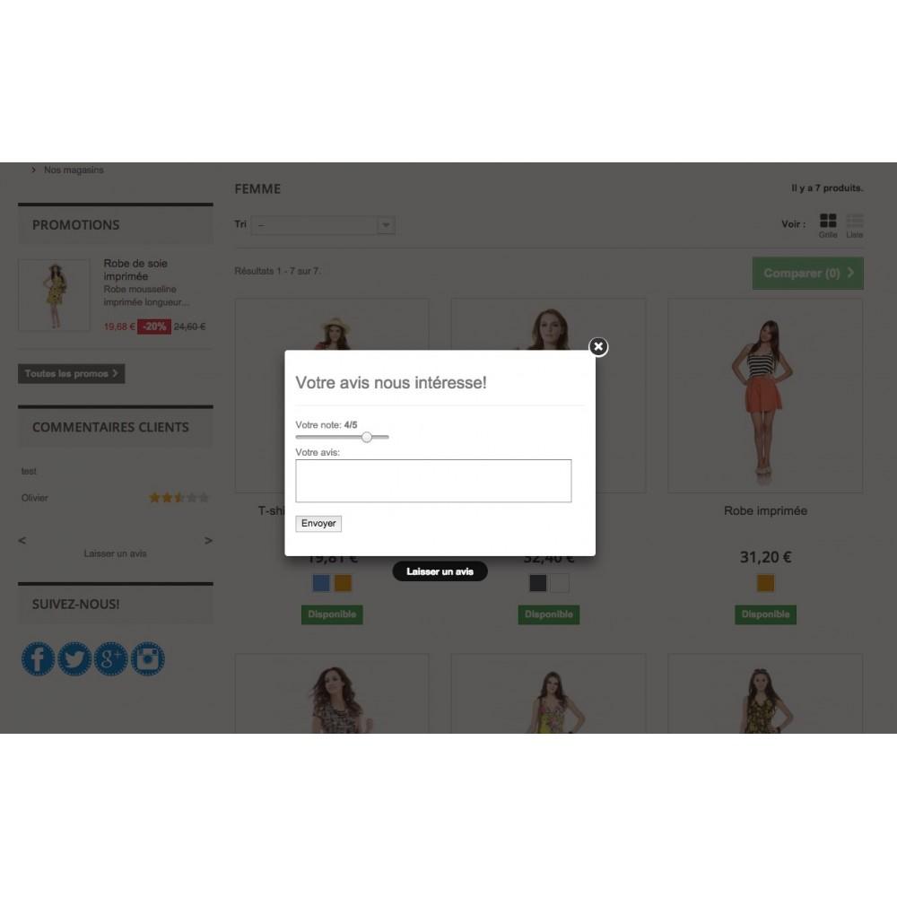 module - Avis clients - Commentaires & avis clients - 2
