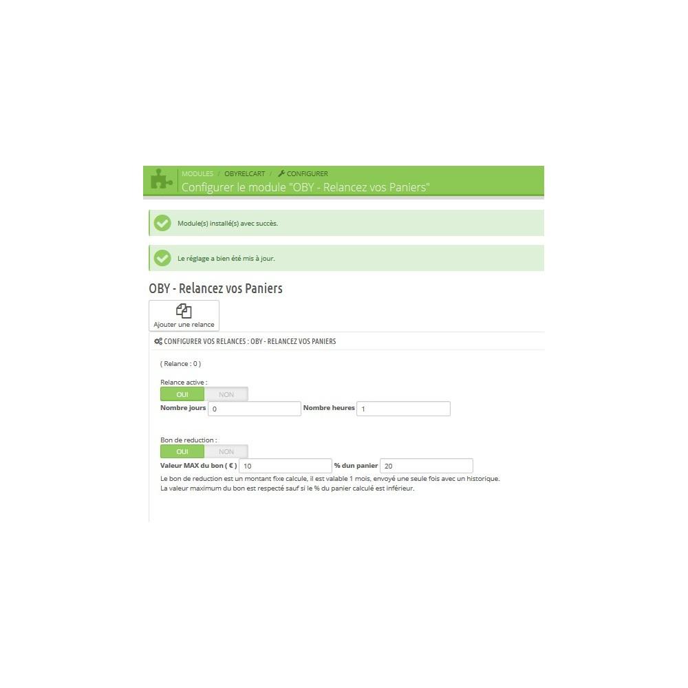 module - Remarketing & Paniers Abandonnés - Relancez vos paniers avec un email et une reduction - 1