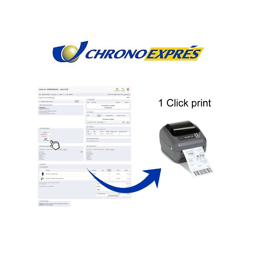 module - Preparation & Shipping - Chronoexpres Alereti - 1 click print - 1