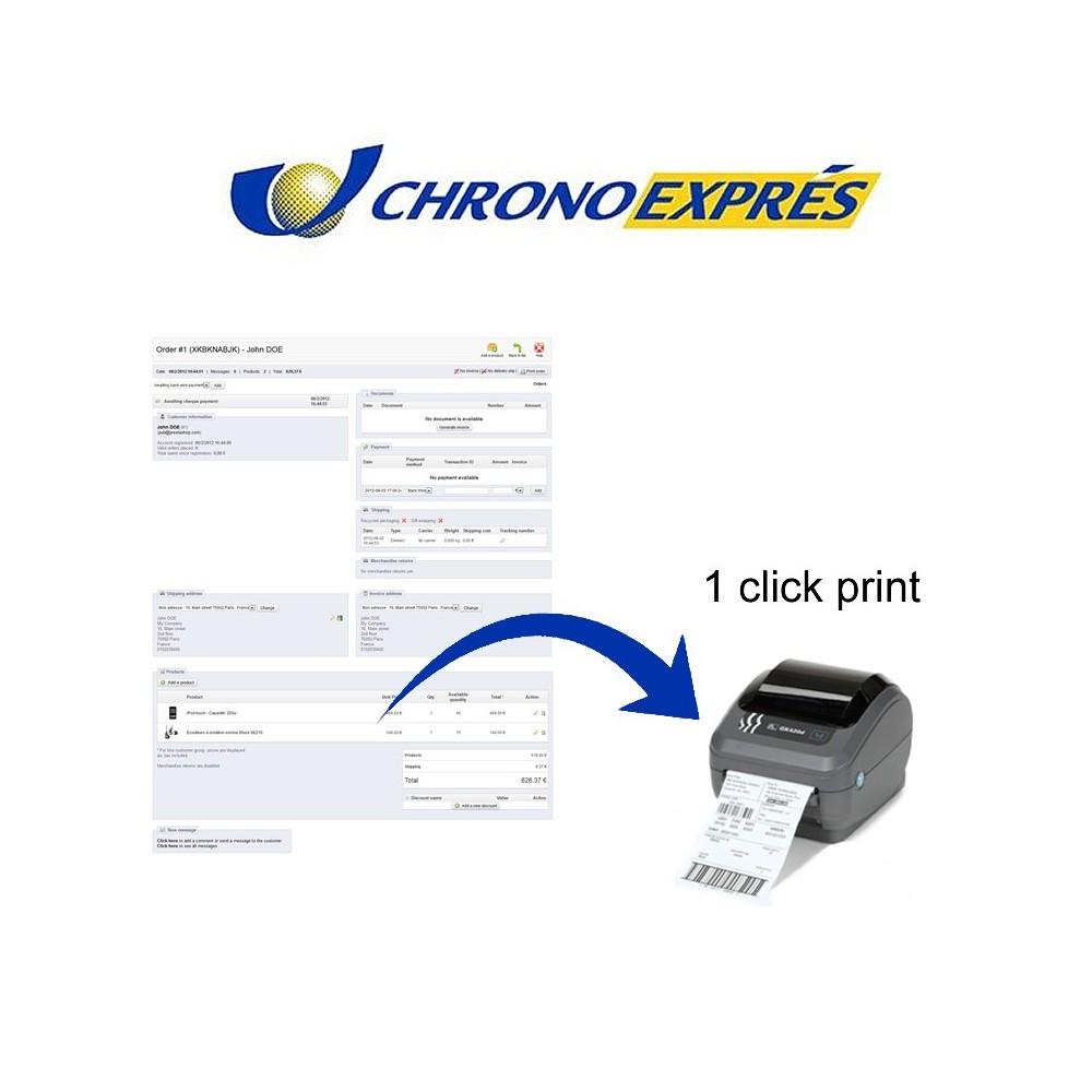 module - Preparación y Envíos - Chronoexpres Alereti - 1 click print - 1
