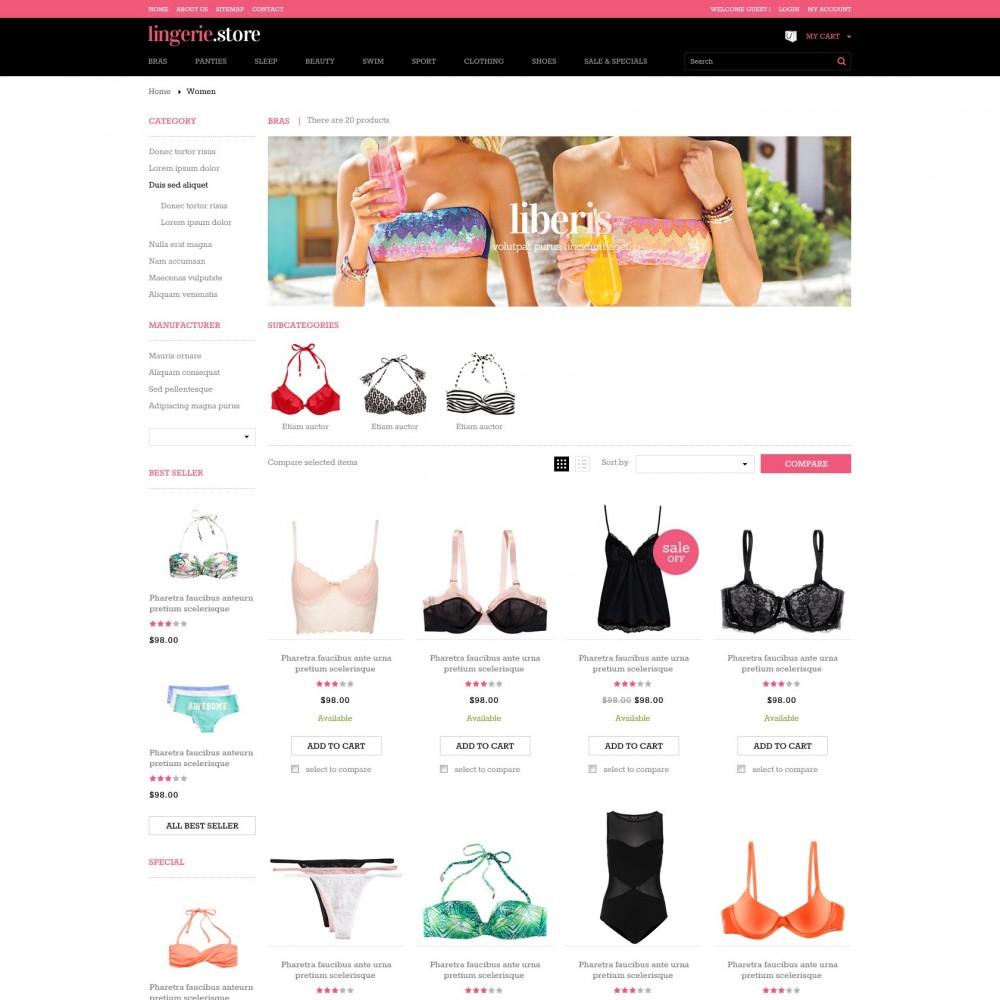 theme - Нижнее белье и товары для взрослых - Prestashop Sexy Lingerie Shop - Lingerie - 2