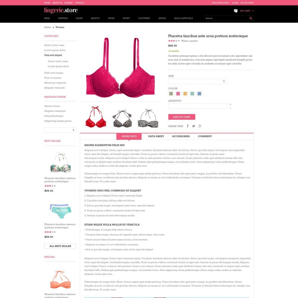 theme - Lingerie & Volwassenen - Prestashop Sexy Lingerie Shop - Lingerie - 4