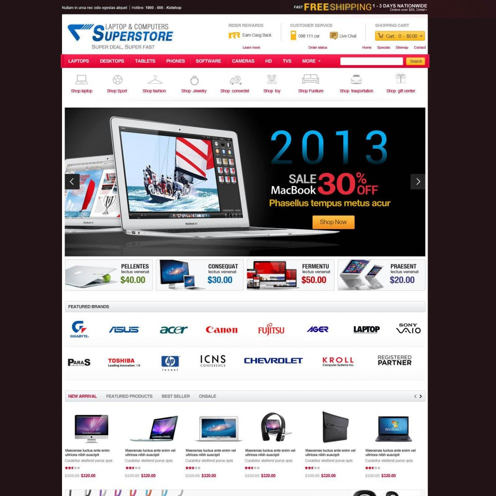 theme - Electrónica e High Tech - Prestashop Computer Equipment & Parts - SuperStore - 3