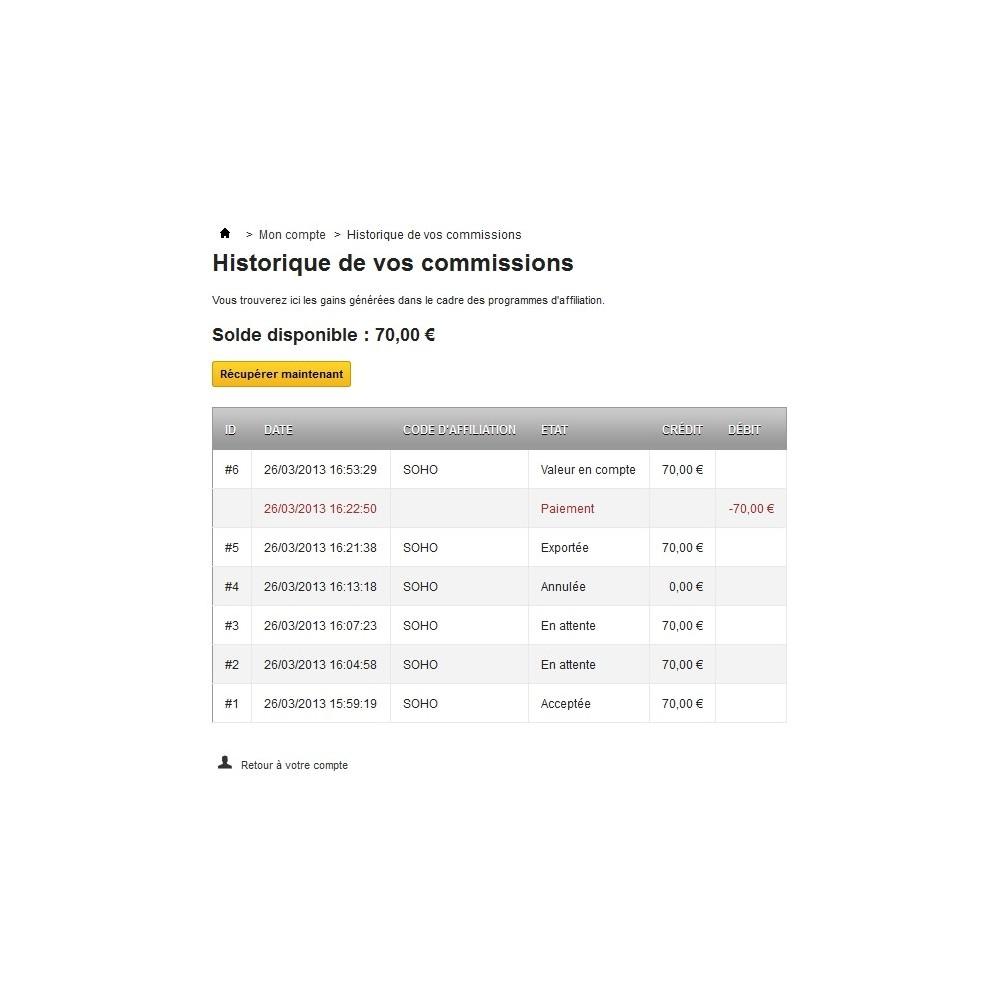 module - Fidélisation & Parrainage - Affiliation par bon de réduction - 3