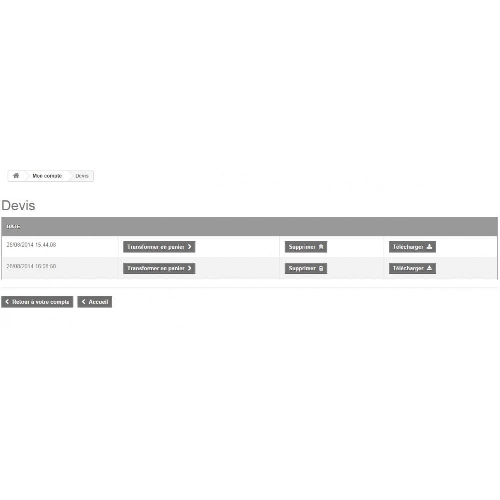 module - Devis - Création de devis front et back office - 4