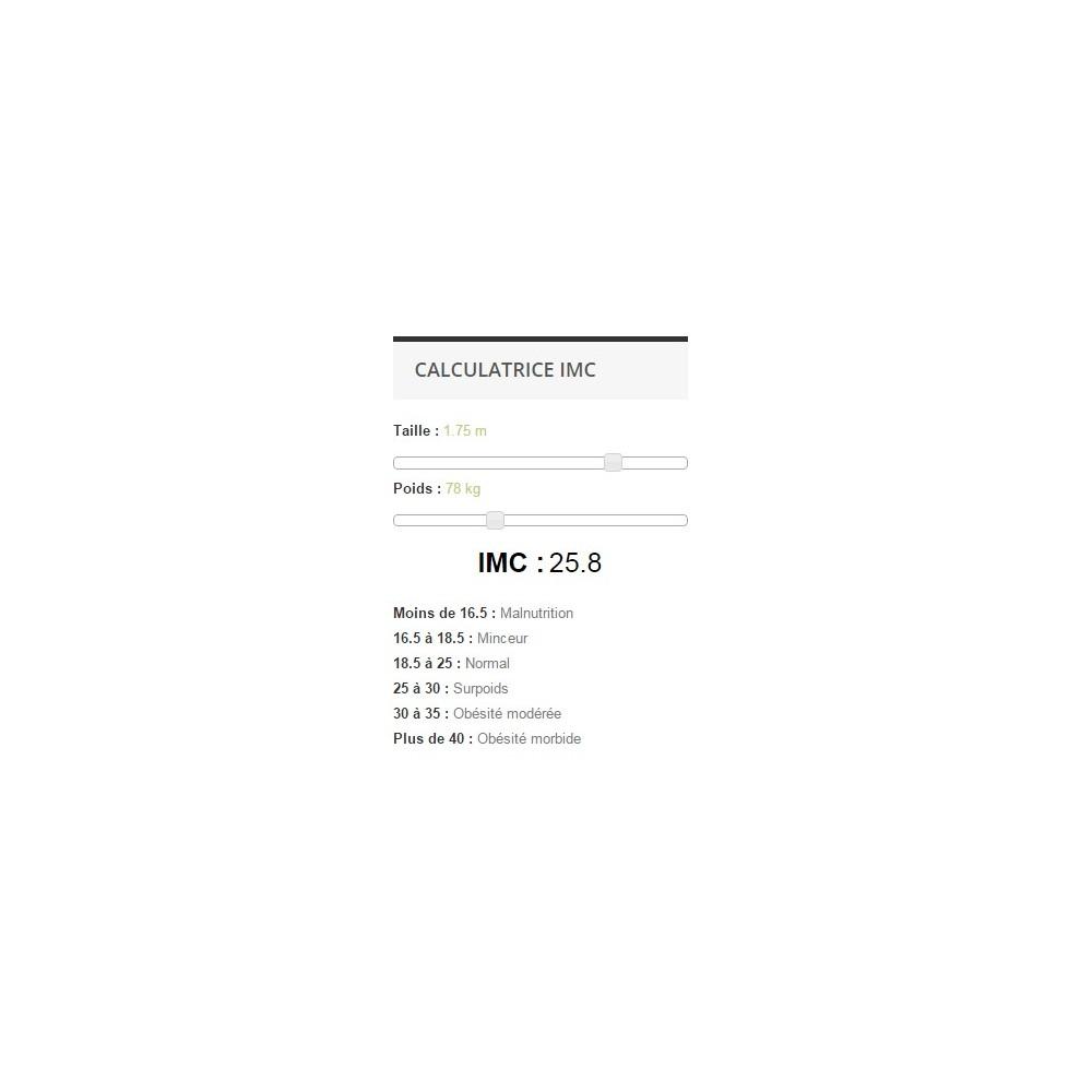 module - Tailles & Dimensions - Calculatrice IMC - 1