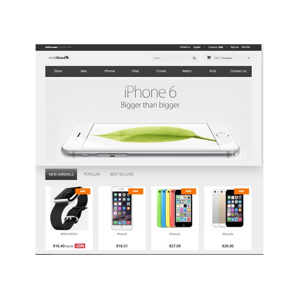 theme - Electrónica e High Tech - iGood Apple Mobile Prestashop 1.6 Responsive - 3