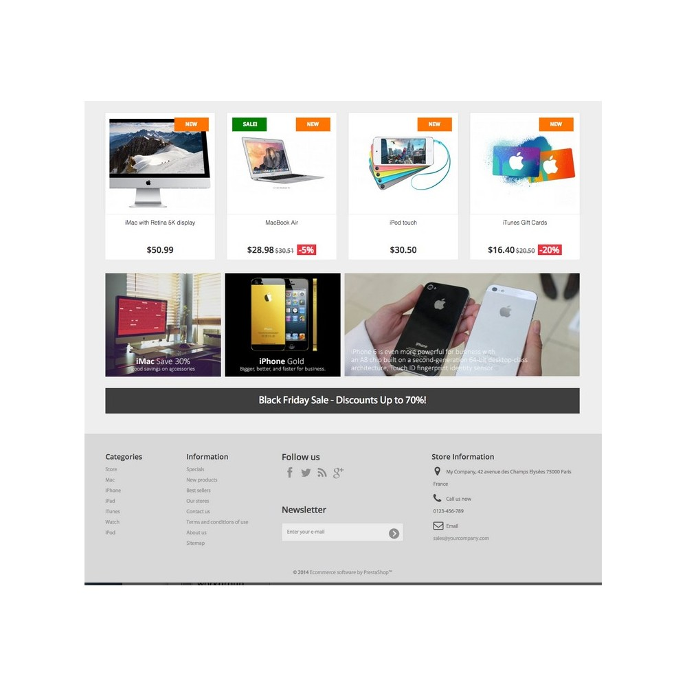 theme - Elektronica & High Tech - iGood Apple Mobile Prestashop 1.6 Responsive - 4