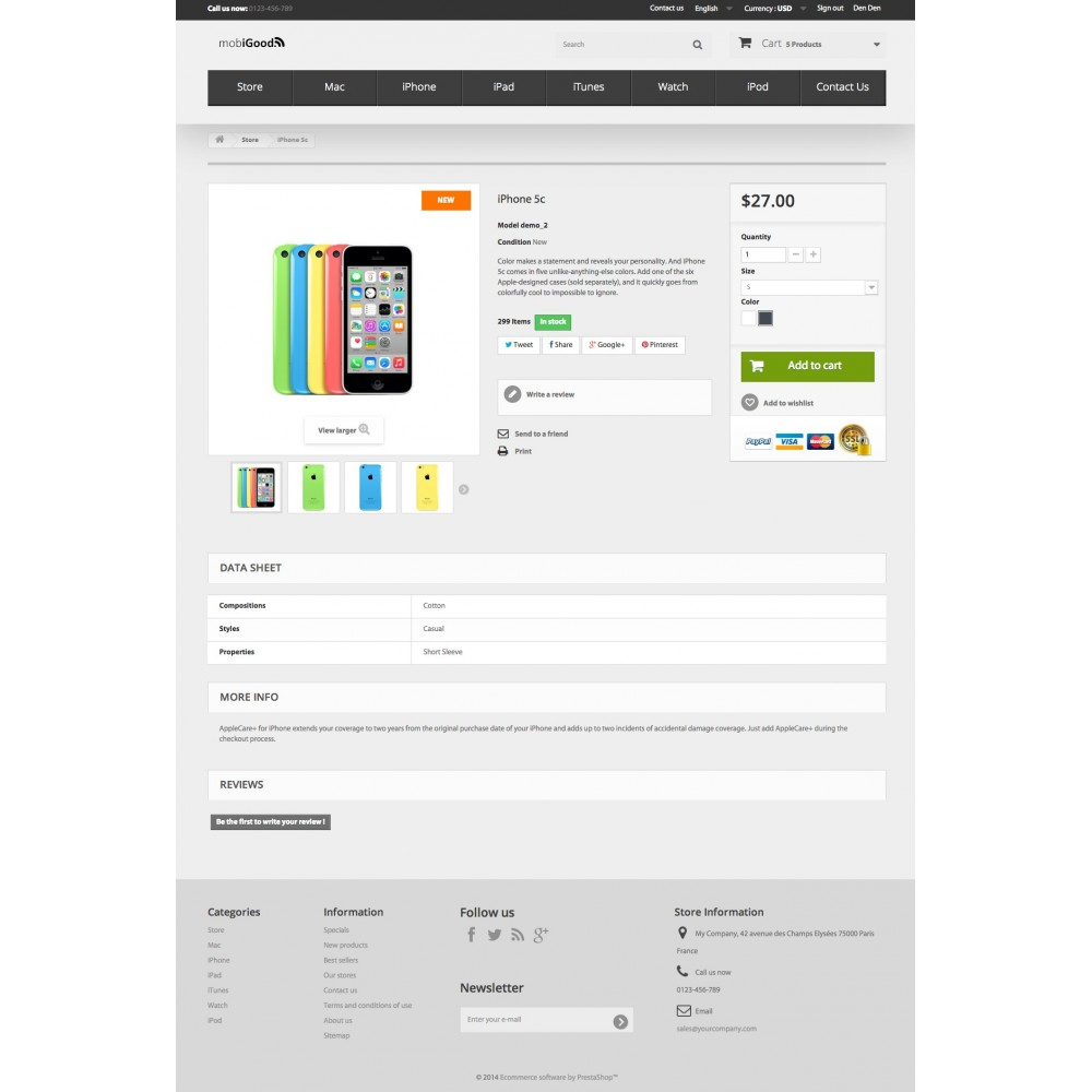 theme - Elektronica & High Tech - iGood Apple Mobile Prestashop 1.6 Responsive - 8