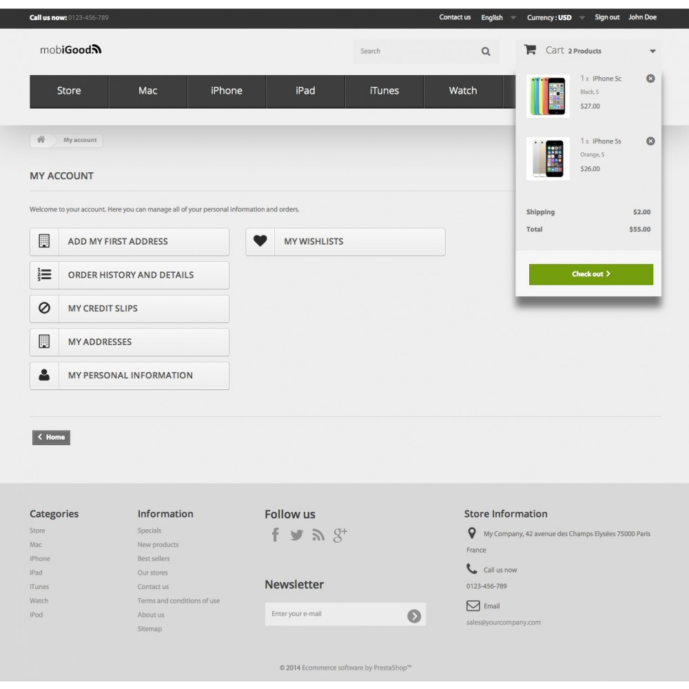 theme - Electrónica e High Tech - iGood Apple Mobile Prestashop 1.6 Responsive - 10