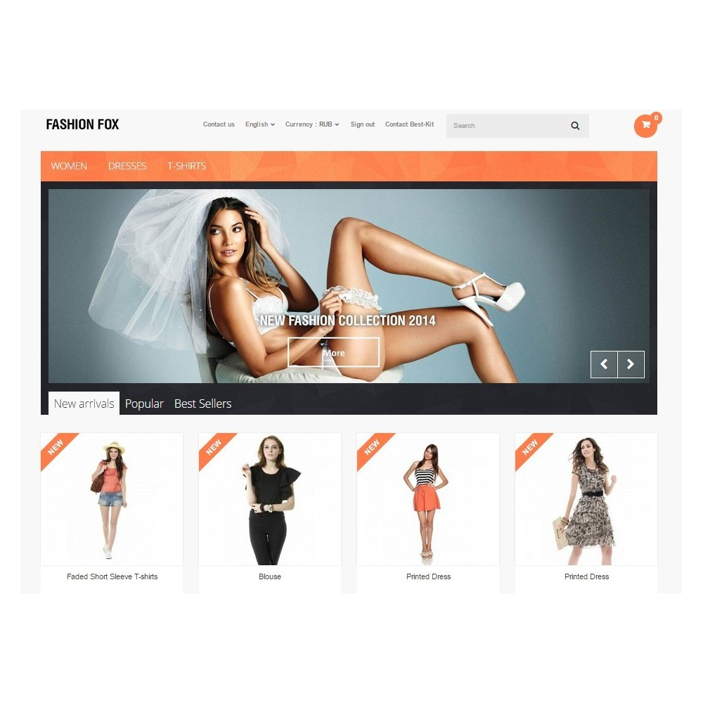 theme - Moda & Obuwie - Fashion Fox Prestashop 1.6 Responsive - 6