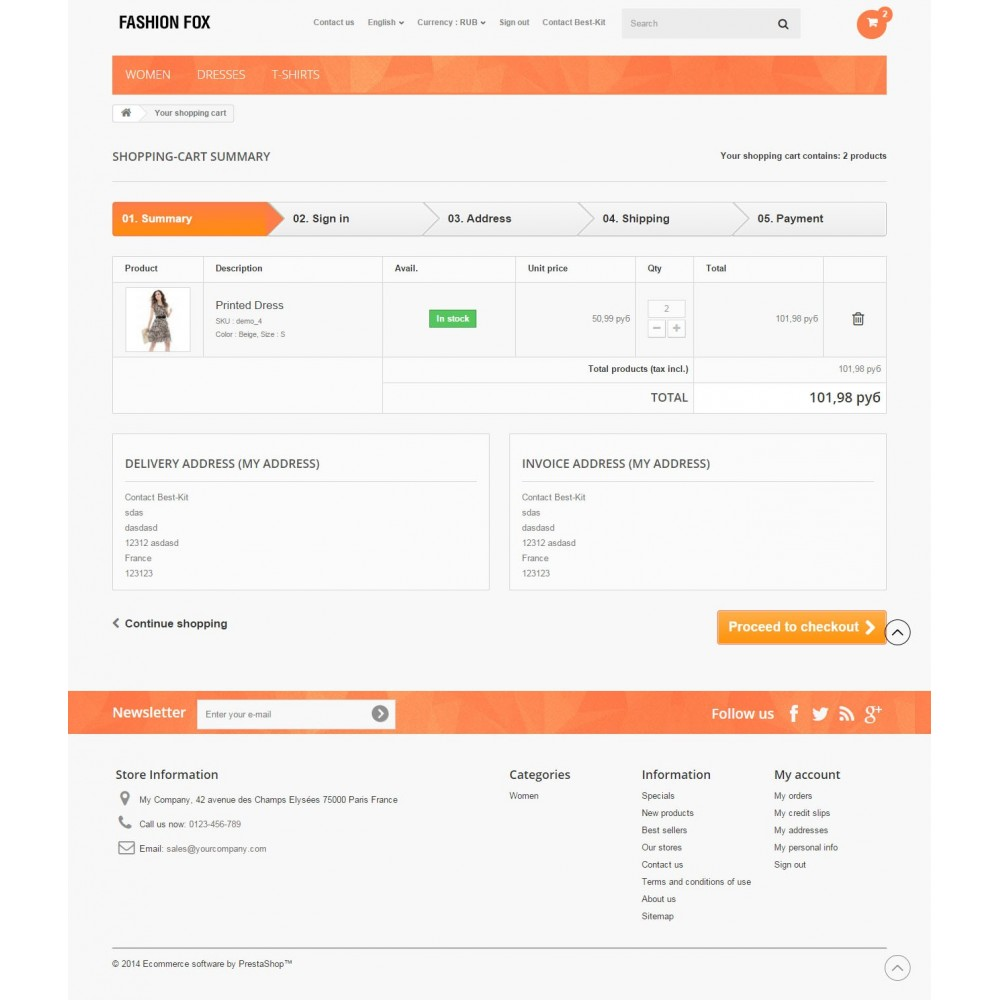 theme - Moda y Calzado - Fashion Fox Prestashop 1.6 Responsive - 9
