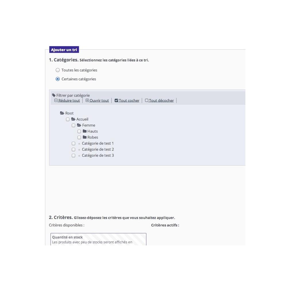 module - Outils d'administration - Positionnement automatique de vos produits - 2