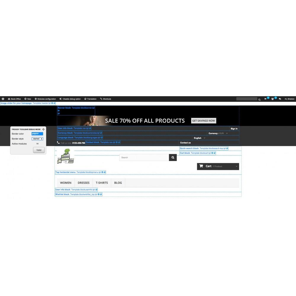 module - Narzędzia administracyjne - Froggy Advanced Toolbar - 3