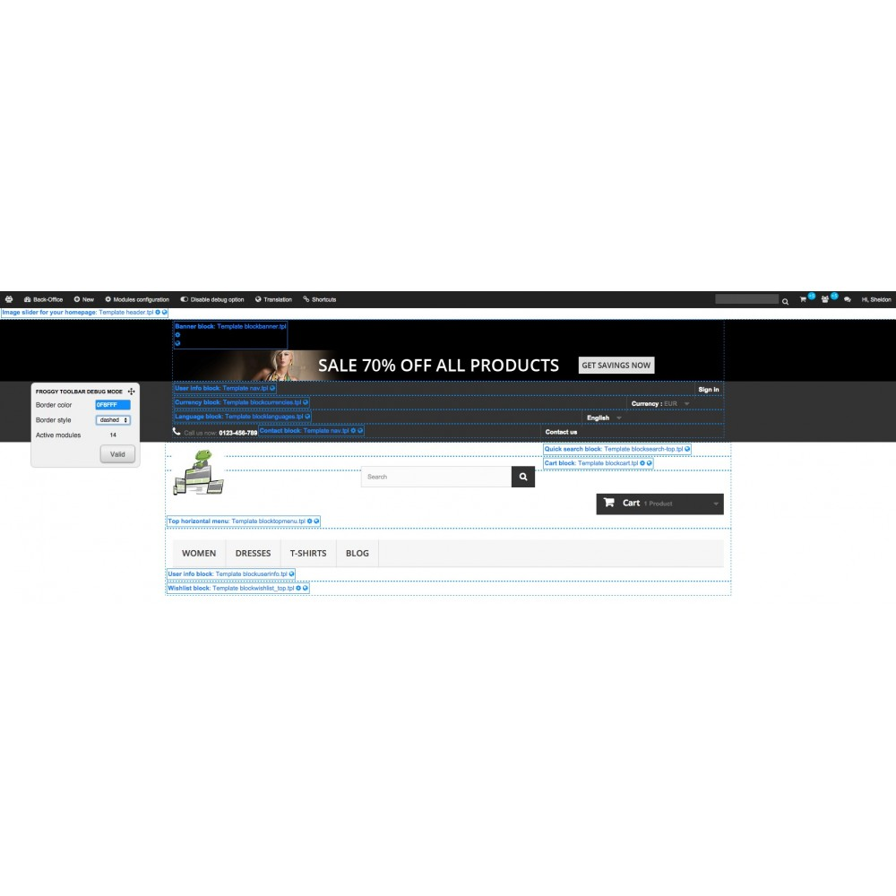 module - Amministrazione - Froggy Advanced Toolbar - 3