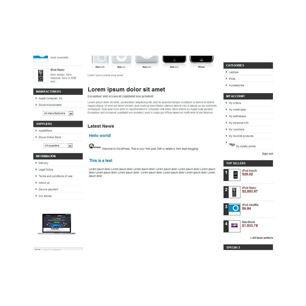 module - Blog, Foro y Noticias - Wpress - Wordpress en su tienda - 12