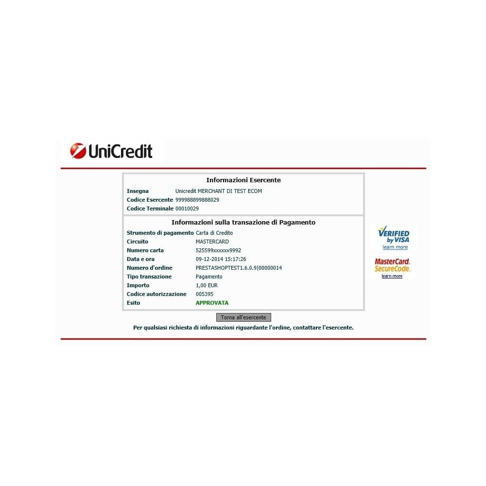 module - Оплата банковской картой или с помощью электронного кошелька - Unicredit PagOnline Imprese - 4